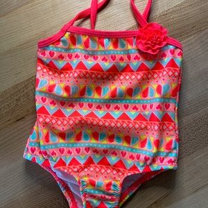 Size 3-6 M BRAND NEW W TAGS!! Op Infant Girls One Piece Swimsuit